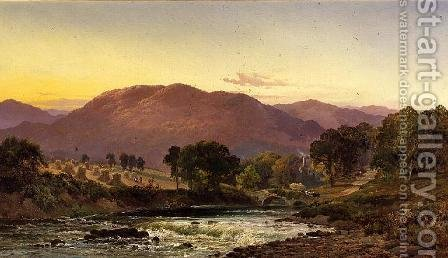 Near Llangollen Pass, North Wales by Alfred de Breanski - Reproduction Oil Painting