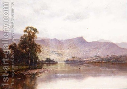 Rydal Water 40.7x55.8 by Alfred de Breanski - Reproduction Oil Painting