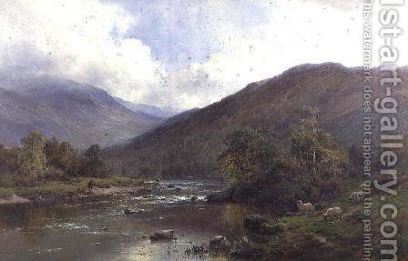 The Dee Near Balmoral by Alfred de Breanski - Reproduction Oil Painting