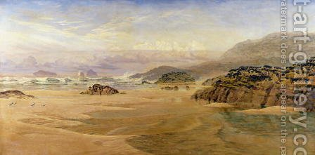 John Edward Brett: Echoes of a Far-Off Storm, 1890 - reproduction oil painting