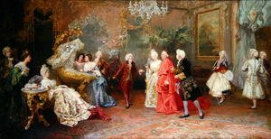 Rococo painting reproductions: The Cardinal's first visit