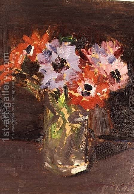 Huge version of A Still Life of Anemones