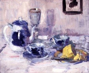 Famous paintings of Tea: Still Life, Blue and White