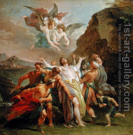 The Martyrdom of the Blessed Signoretto Alliata, c.1794-6 by Giuseppe Cades - Reproduction Oil Painting