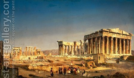 Ippolito Caffi: The Parthenon, 1863 - reproduction oil painting