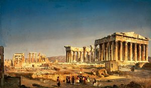 Romanticism painting reproductions: The Parthenon, 1863