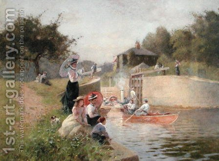 Marlow Lock by Hector Caffieri - Reproduction Oil Painting