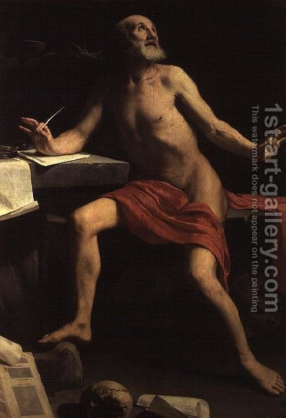 St. Jerome by Guido Cagnacci - Reproduction Oil Painting