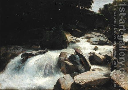 River Study, c.1846-50 by Alexandre Calame - Reproduction Oil Painting