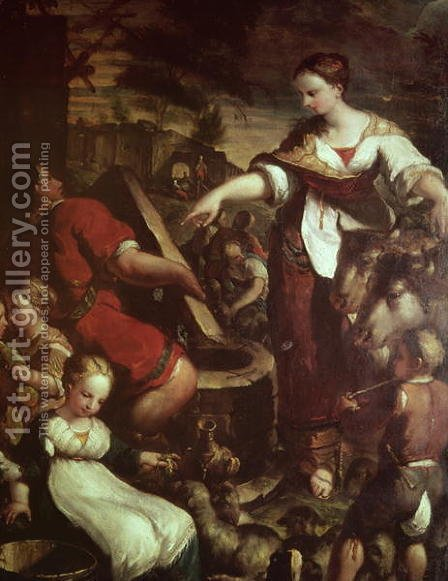 Rebecca at the Well by Giuseppe (Il Cremonese) Caletti - Reproduction Oil Painting
