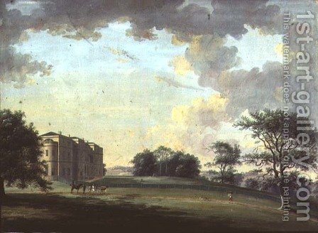 Highcliffe, near Christchurch: the Entrance Front with Horse and Carriage by Adam Callander - Reproduction Oil Painting
