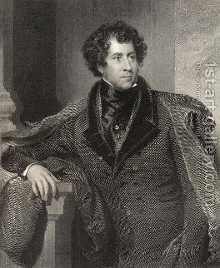 Constantine Henry Phipps, 1st Marquess of Normanby, c.1835 by Henry Perronet Briggs - Reproduction Oil Painting