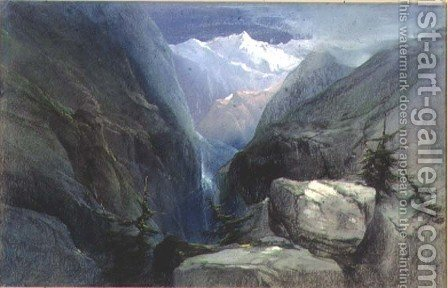 Mountain Landscape by Henry Bright - Reproduction Oil Painting