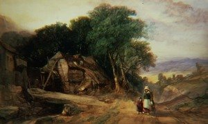 Famous paintings of Villages: On the Borders of Dartmoor, c.1840