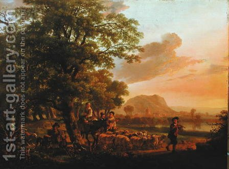 Pastoral scene by Abraham Van Calraet - Reproduction Oil Painting