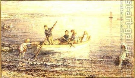 Children Boating by Hugh Cameron - Reproduction Oil Painting
