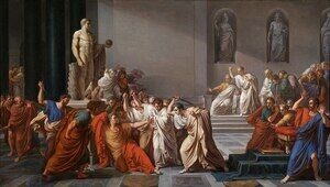 Academic Classicism painting reproductions: Death of Julius Caesar (100-44 BC)