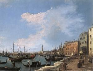Rococo painting reproductions: The Riva Degli Schiavoni, 1724-30