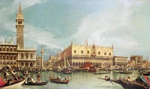 Famous paintings of Ships & Boats: The Molo, Venice