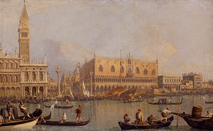 Famous paintings of Ships & Boats: Ducal Palace, Venice, c.1755