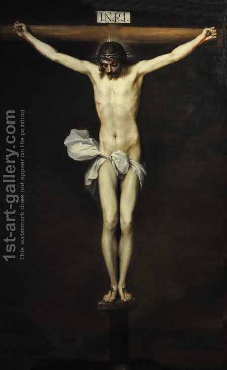 The Crucifixion, late 1630s by Alonso Cano - Reproduction Oil Painting