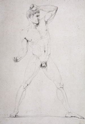Male Nude, Creugas of Durazzo, from Pausanias's description of the Nemean Games in his 'Itinary' of Greece, 1794