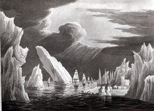 Famous paintings of Ice: Passage through the Ice, 16th June 1818