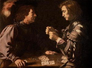 Famous paintings of Card Games: The Gamblers