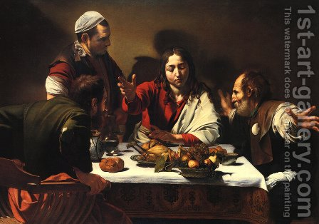 Caravaggio: The Supper at Emmaus, 1601 - reproduction oil painting