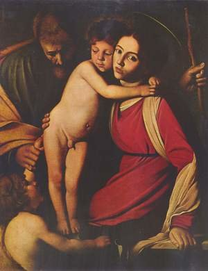 Reproduction oil paintings - Caravaggio - The Holy Family with St. John the Baptist