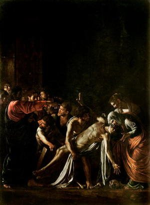 Reproduction oil paintings - Caravaggio - Resurrection of Lazarus (detail-1)