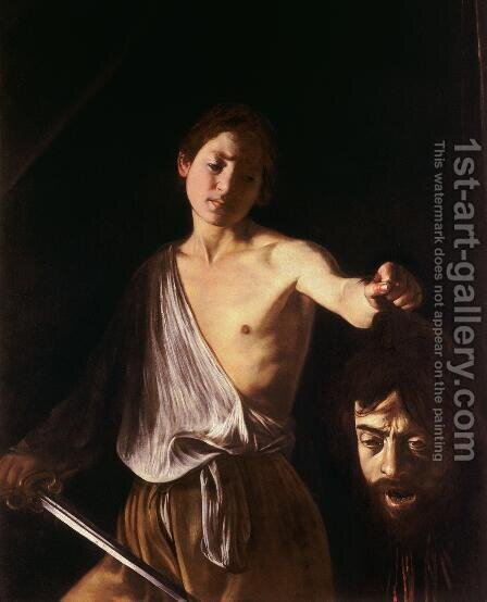 Caravaggio: David with the Head of Goliath - reproduction oil painting