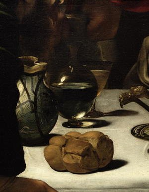 Reproduction oil paintings - Caravaggio - The Supper at Emmaus, 1601 (detail-3)