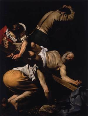 Reproduction oil paintings - Caravaggio - The Crucifixion of St. Peter, 1600-01