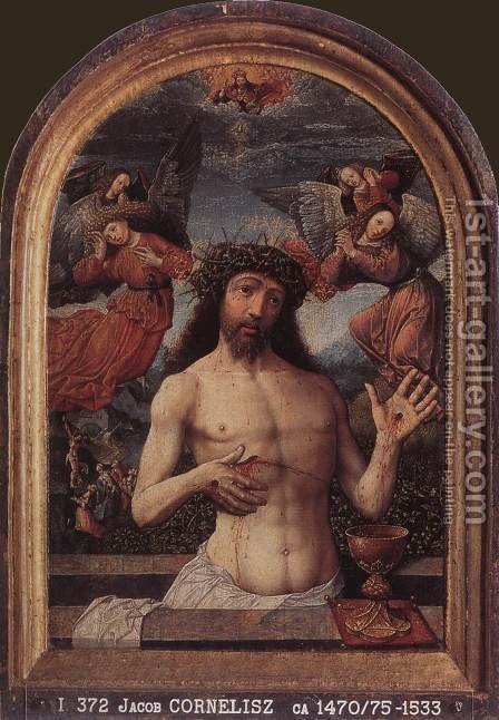 Man of Sorrows by Jacob Cornelisz Van Oostsanen - Reproduction Oil Painting