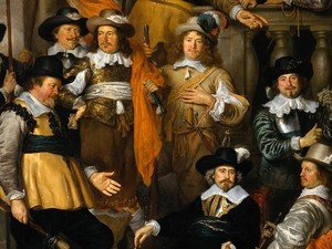 Reproduction oil paintings - Govert Teunisz. Flinck - The Company of Cpt. Aelbert Bas and Lt. Lucas Conijn [detail #]