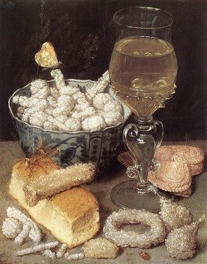 Famous paintings of Desserts: Still-Life with Bread and Confectionary