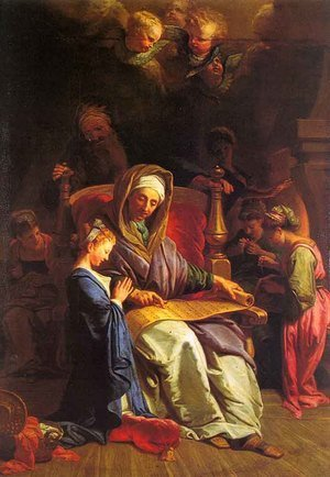 Jean-baptiste Jouvenet reproductions - The Education of the Virgin
