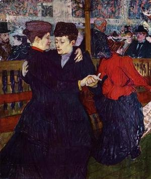 Reproduction oil paintings - Toulouse-Lautrec - At the Moulin Rouge: the Two Waltzers