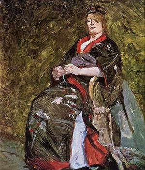 Reproduction oil paintings - Toulouse-Lautrec - Lili Grenier in a Kimono