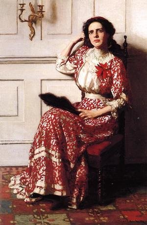 Famous paintings of Fans: Portrait of Rebecca H. Whelan