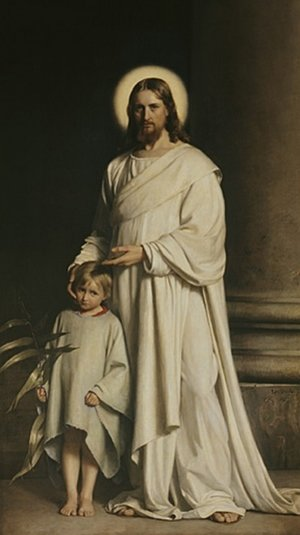 Famous paintings of Christianity: Christ and a Boy