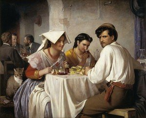 Famous paintings of Portraits: Osteria