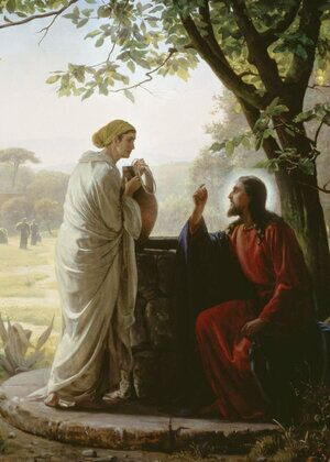 Famous paintings of Religion & Philosophy: Woman at the Well