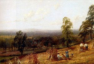Reproduction oil paintings - Hendrikus van den Sande Bakhuyzen - Harvestime, Ashborne, Warwickshire