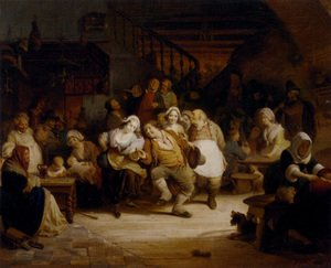 Famous paintings of Taverns: Figures In A Tavern