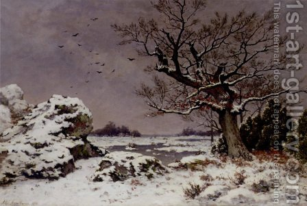 A Winter's Day by Alphonse Asselbergs - Reproduction Oil Painting