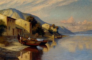 Famous paintings of Villages: A Fishing Village