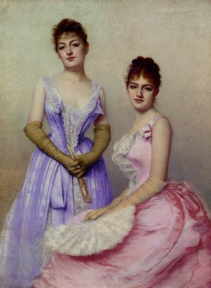 Famous paintings of Fans: The Debutantes