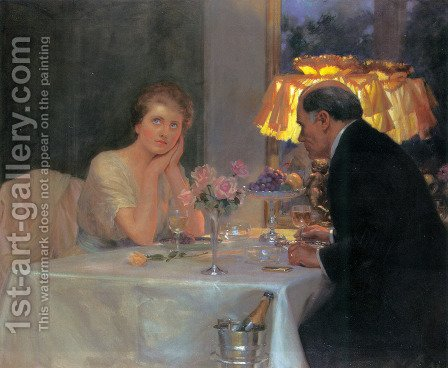 Daylight and Lamplight by Albert Collings - Reproduction Oil Painting